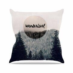 Wanderlust Throw Pillow Size: 18