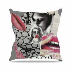 Love Jina Ninjjaga Pop Art Throw Pillow Size: 18