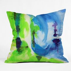 Shot Of Lime Outdoor by Laura Trevey Throw Pillow Size: 18