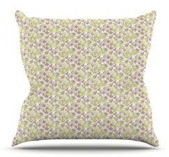 Rhapsody Vine by Julie Hamilton Outdoor Throw Pillow