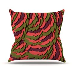 Wings III Akwaflorell Throw Pillow Size: 20