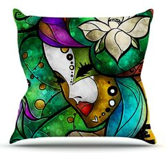 Nola by Mandie Manzano Outdoor Throw Pillow