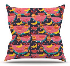 Yummy by Akwaflorell Outdoor Throw Pillow
