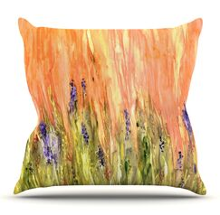 Welcome Spring by Rosie Brown Outdoor Throw Pillow