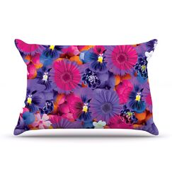 Find The Tiger by Akwaflorell Featherweight Pillow Sham, Purple