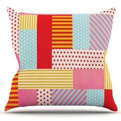 Geometric Pop by Louise Machado Outdoor Throw Pillow