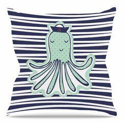 Pulpo by MaJoBV Throw Pillow Size: 20