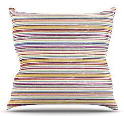 Summer Stripes by Nika Martinez Throw Pillow Size: 20