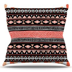 Mojave by Skye Zambrana Outdoor Throw Pillow Color: Black