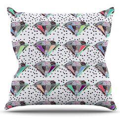 Polka Dot Diamonds by Vasare Nar Outdoor Throw Pillow