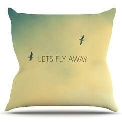 Let's Fly Away by Richard Casillas Outdoor Throw Pillow