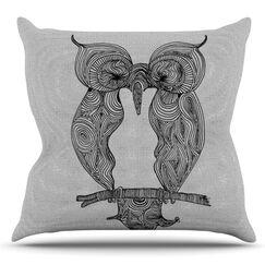 Owl by Belinda Gillies Outdoor Throw Pillow