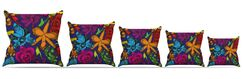 Orchids Festival Throw Pillow Size: 18