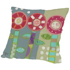 Trio of Flowers Throw Pillow Size: 16