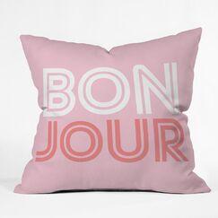 Bonjour Babe Polyester Throw Pillow Size: 20