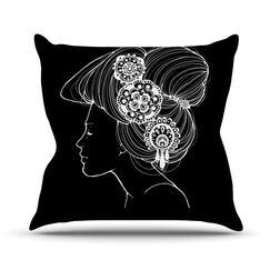 Outdoor Throw Pillow Color: Black