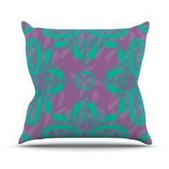 Motifs by Nandita Singh Outdoor Throw Pillow Color: Green