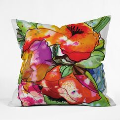 Floral Throw Pillow Size: Extra Large