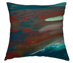 Coral Beauty Throw Pillow Size: 20