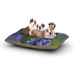Angie Turner 'Grape Hyacinth' Dog Pillow with Fleece Cozy Top Size: Small (40