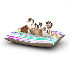 Sreetama Ray 'Stripes Cushion' Chevron Dog Pillow with Fleece Cozy Top Size: Small (40