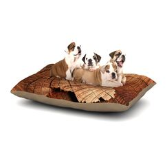 Susan Sanders 'Rustic Dream' Wood Dog Pillow with Fleece Cozy Top Size: Small (40