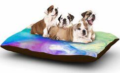 Alison Coxon 'Rainbow Flow' Dog Pillow with Fleece Cozy Top