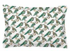 Pom Graphic Design 'Hey Little Birds' Illustration Sham Size: Queen