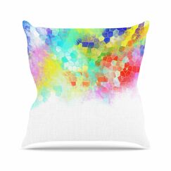 Dan Sekanwagi Structure Abstract Outdoor Throw Pillow Size: 16
