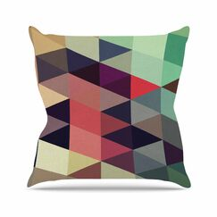 Juan Paolo Labyrinth Geometric Outdoor Throw Pillow Size: 18