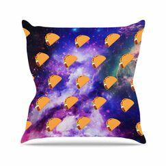 Juan Paolo Taco Galaxy Outdoor Throw Pillow Size: 16