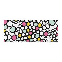 Emine Ortega Pebbles Bed Runner Color: Pink