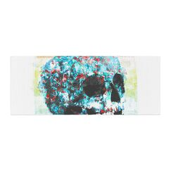 Frederic Levy-Hadida Floral Skully 2 Bed Runner