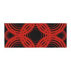 Kathryn Pledger Geo Crimson Geometric Bed Runner