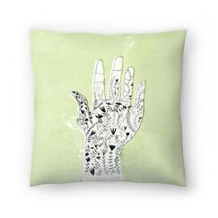 Paula Mills Floral Hand Throw Pillow Size: 14