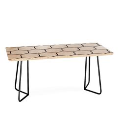 Honey Comb Coffee Table Size: 17