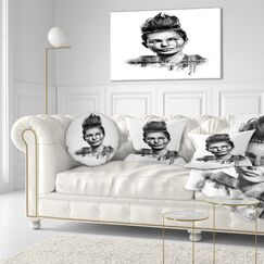 Portrait Double Exposure Woman With Hair Throw Pillow Size: 20