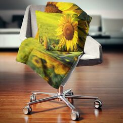 Floral Tuscany Sunflowers Pillow