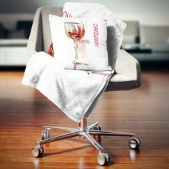 Wine on Background Pillow Size: 26
