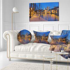 Seashore Binnenhof in The Hague Panorama Lumbar Pillow