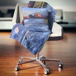 Landscape Printed Colorado Lagoon and Volcano Pabellon Pillow Size: 16