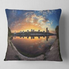 Long Summer Sunset in Landscape Photography Pillow Size: 26