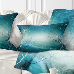 Winter Fantasy Forest Landscape Photo Pillow Size: 12