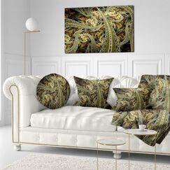 Abstract Metallic Fabric Pattern Throw Pillow Size: 20