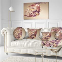 Abstract Portrait Chocolate Portrait of Woman Throw Pillow Size: 20
