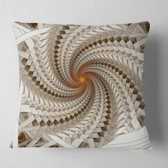 Abstract Fractal Spiral Pattern Pillow Size: 18