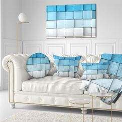 Mosaic Cubes Contemporary Throw Pillow Size: 16