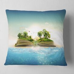 Magical Book about Nature Pillow Size: 16