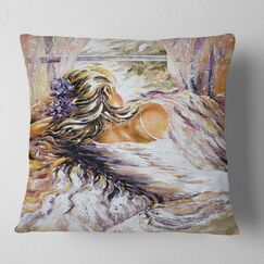 Abstract High Heel Shoe Pillow Size: 18