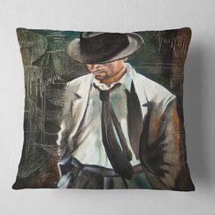 Portrait The Gentleman Pillow Size: 26